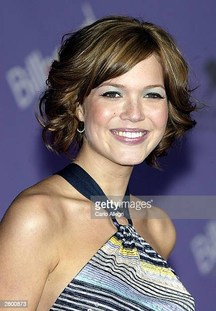 Singer Mandy Moore attends the 2003 Billboard Music Awards at the MGM Grand Garden Arena December 10 2003 in Las Vegas Nevada The 14th annual...
