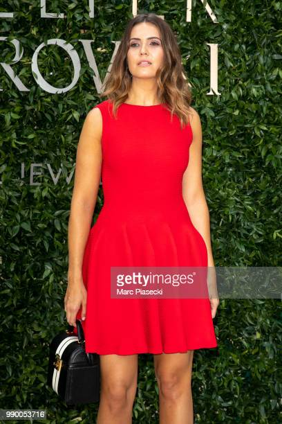Singer Mandy Moore attends the Atelier Swarovski Cocktail Of The New Penelope Cruz Fine Jewelry Collection as part of Paris Fashion Week on July 2...