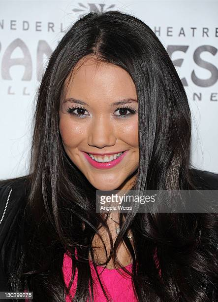 Singer Manika arrives at LA's Premiere of Twyla TharpFrank Sinatra Musical Come Fly Away at the Pantages Theatre on October 25 2011 in Hollywood...