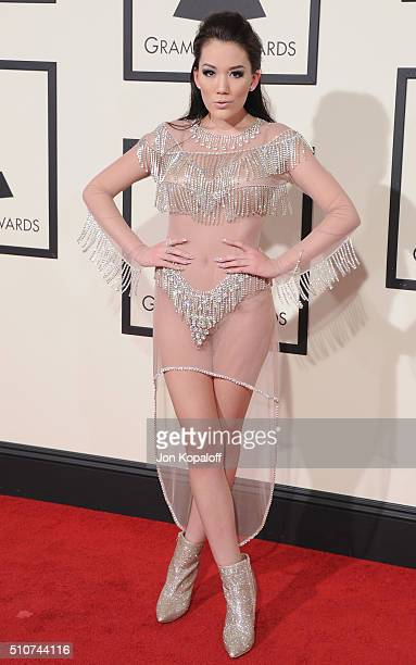 Singer Manika arrives at The 58th GRAMMY Awards at Staples Center on February 15 2016 in Los Angeles California
