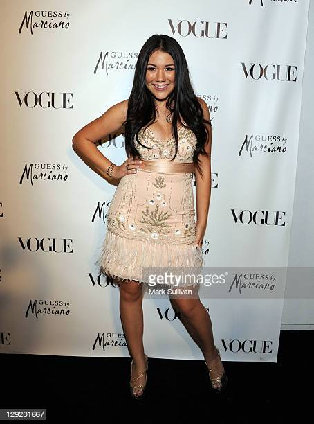 Singer Manika attends Guess by Marciano and Vogue 2011 Holiday Collection debut at Mr C Beverly Hills on October 13 2011 in Beverly Hills California