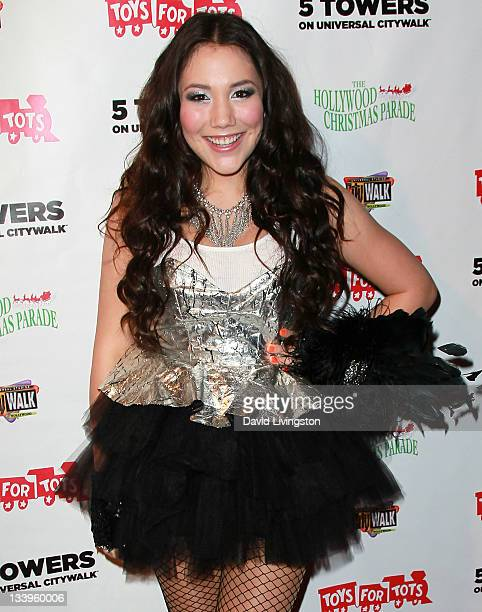 Singer Manika attends the 2011 Hollywood Christmas Parade Concert at CityWalk hosted by the US Marine Corps at 5 Towers Outdoor Concert Arena on...