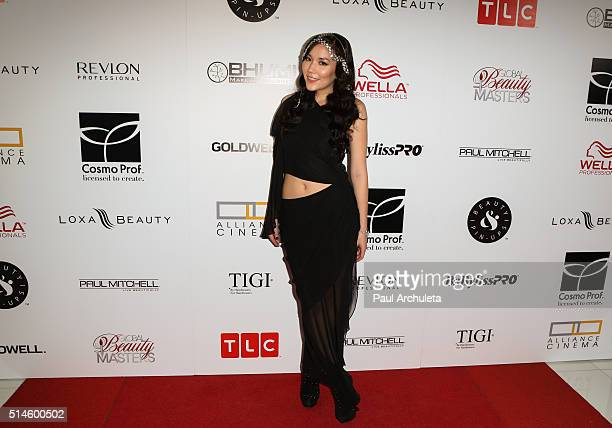 Singer Manika attends the preview event of TLC Network's Global Beauty Masters season 2 at Christopher Guy West Hollywood Showroom on March 9 2016 in...