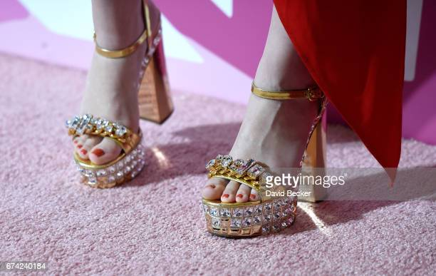 Singer Manika Ward shoe detail attends Keep Memory Alive's 21st annual 'Power of Love Gala' benefit for the Cleveland Clinic Lou Ruvo Center for...