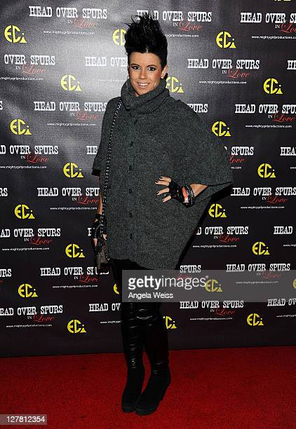 Singer Manou arrives at the world premiere of 'Head Over Spurs In Love' at Majestic Crest Theatre on March 24, 2011 in Los Angeles, California.