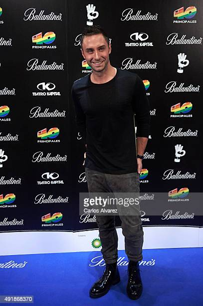 Singer Mans Zelmerlow attends the '40 Principales Awards' Candidates presentation at the Kapital Club on October 8 2015 in Madrid Spain