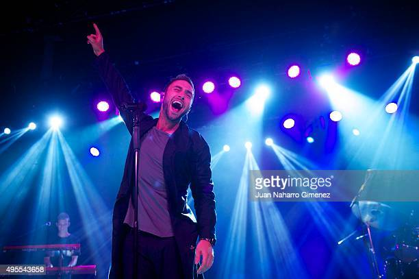 Singer Mans Zelmerlow performs on stage at La Riviera on November 3 2015 in Madrid Spain