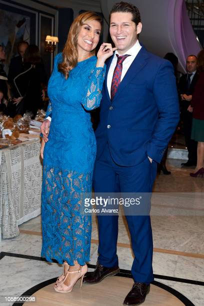 Singer Manu Tenorio and wife Silvia Casas attend a charity dinner by Querer Foundation at the Villamagna Hotel on November 7, 2018 in Madrid, Spain.