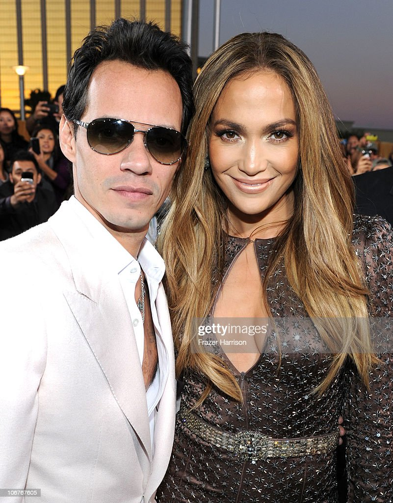 Singer Marc Anthony (L) and actress Jennifer Lopez arrive at the 11th annual Latin GRAMMY Awards at the Mandalay Bay Resort & Casino on November 11, 2010 in Las Vegas, Nevada.
