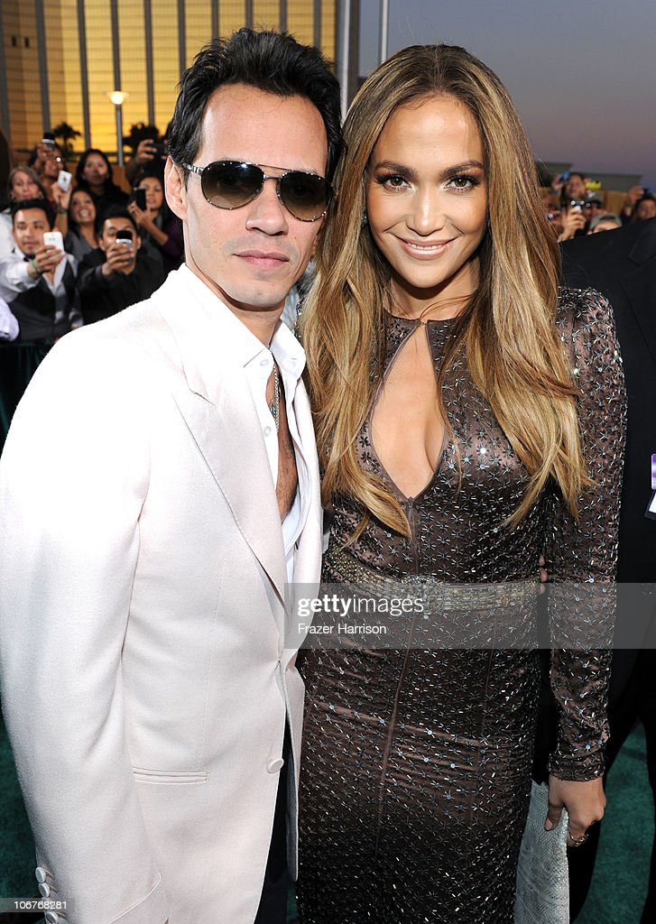 Singer Marc Anthony and actress Jennifer Lopez arrive at the 11th annual Latin GRAMMY Awards at the Mandalay Bay Resort & Casino on November 11, 2010 in Las Vegas, Nevada.