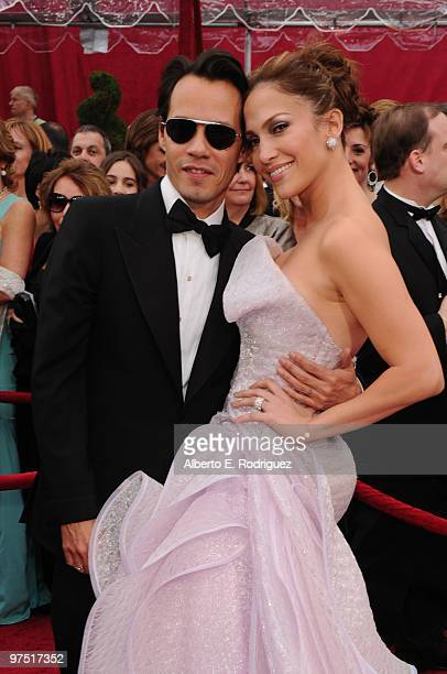 Singer Marc Anthony and actress Jennifer Lopez arrives at the 82nd Annual Academy Awards held at Kodak Theatre on March 7 2010 in Hollywood California