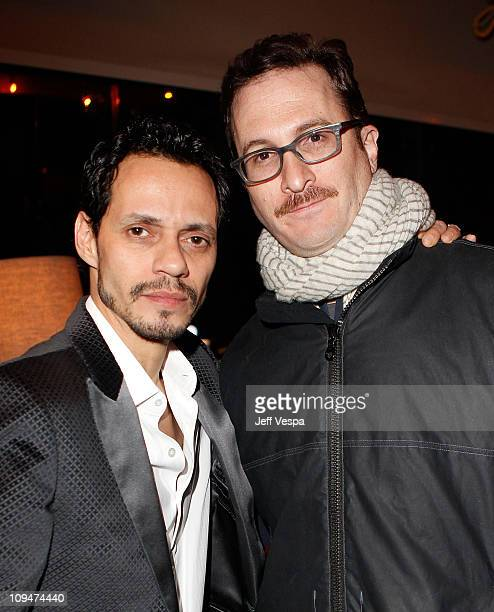 Singer Marc Anthony and Director Darren Aronofskyattends the Montblanc Cocktail Party cohosted by Harvey and Bob Weinstein celebrating the Weinstein...