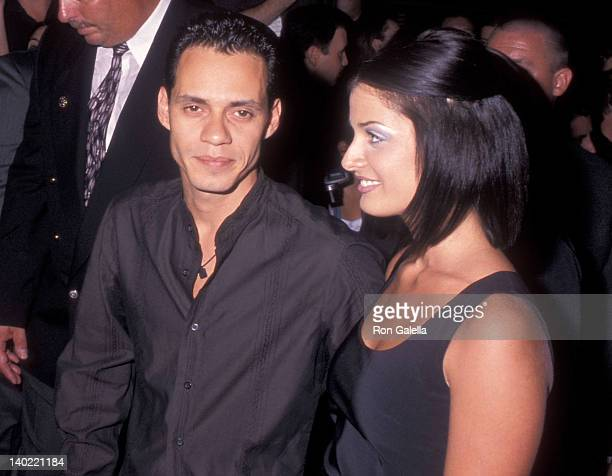 Singer Marc Anthony and girlfriend Dayanara Torres attend the 16th Annual MTV Video Music Awards After Party Hosted by Sony Music on September 9 1999...