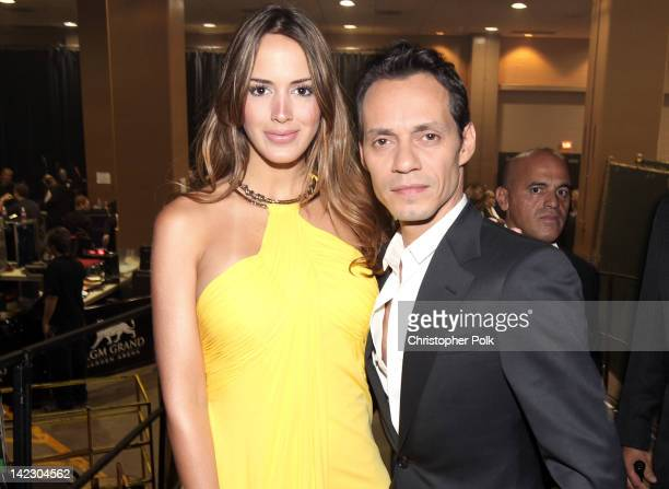 Singer Marc Anthony and Shannon de Lima attend the 47th Annual Academy Of Country Music Awards held at the MGM Grand Garden Arena on April 1, 2012 in...