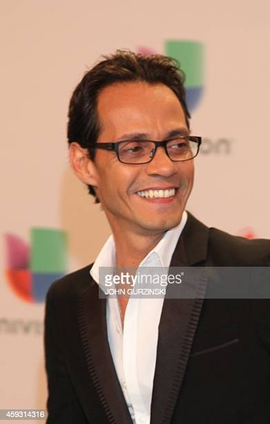Singer Marc Anthony arrives for the 15th Annual Latin Grammy Awards on November 20 in Las Vegas Nevada AFP PHOTO/JOHN GURZINSKI