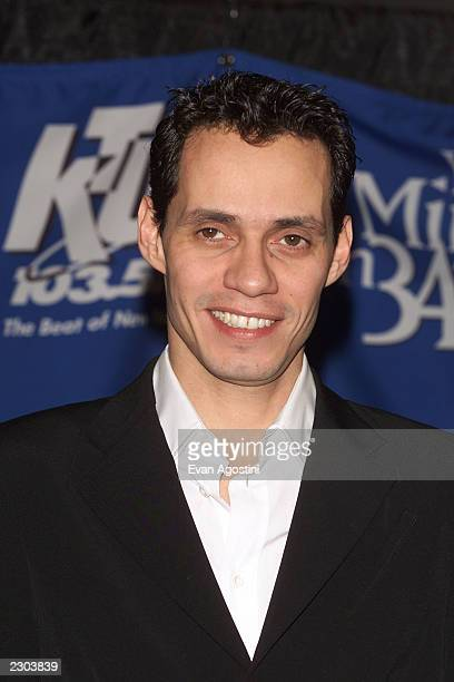 Singer Marc Anthony at the 'Miracle on 34th Street' allstar concert at Madison Square Garden Photo Evan Agostini/ImageDirect
