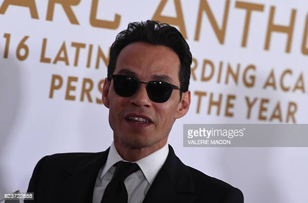 Singer Marc Anthony attends the 2016 Latin GRAMMY's Person Of The Year honoring Marc Anthony at the MGM Grand on November 16 2016 in Las Vegas Nevada...