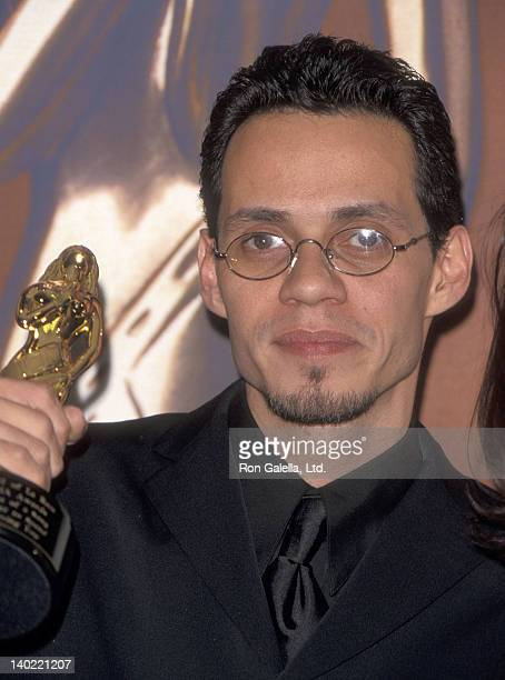 Singer Marc Anthony attends the Fourth Annual ALMA Awards on April 11 1999 at the Pasadena Civic Auditorium in Pasadena California
