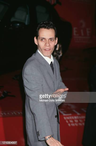Singer Marc Anthony attends the Fourth Jaguar's Tribute to Style Gala to Benefit the Entertainment Industry Foundation's Arts and Education Fund at...