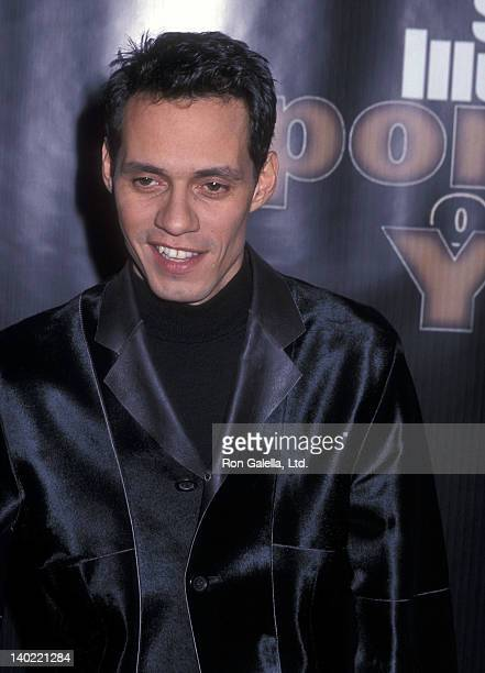 Singer Marc Anthony attends the Sports Illustrated's 46th Annual Sportsman of the Year Award Salute to Tiger Woods on December 12 2000 at the Beacon...