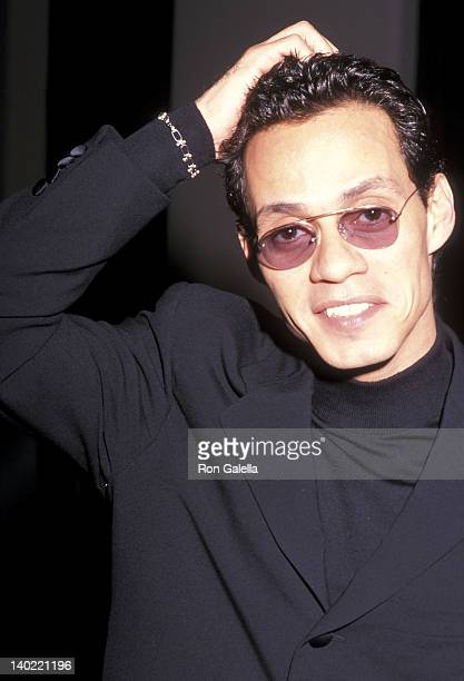 "Singer Marc Anthony attends Whitney Houston's ""AllStar Holiday Gala"" on December 4 1999 at the Marriott Marquis Hotel in New York City"