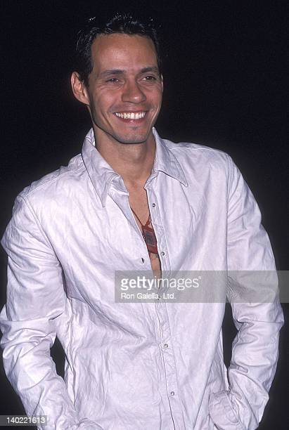 Singer Marc Anthony attends Z100's Fourth Annual Zootopia Concert on June 2 2002 at Giants Stadium in East Rutherford New Jersey