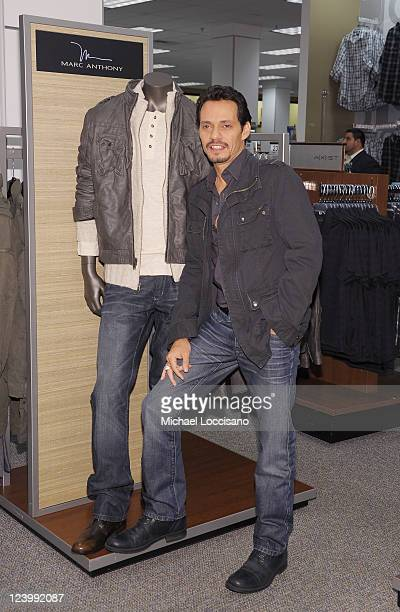 Singer Marc Anthony launches his Signature Collection at Kohl's on September 7 2011 in Jersey City New Jersey