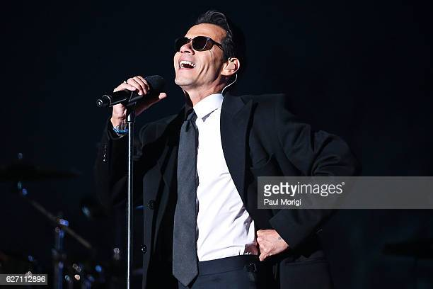 Singer Marc Anthony peforms during the 94th Annual National Christmas Tree Lighting Ceremony on the Ellipse in President's Park on December 1 2016 in...