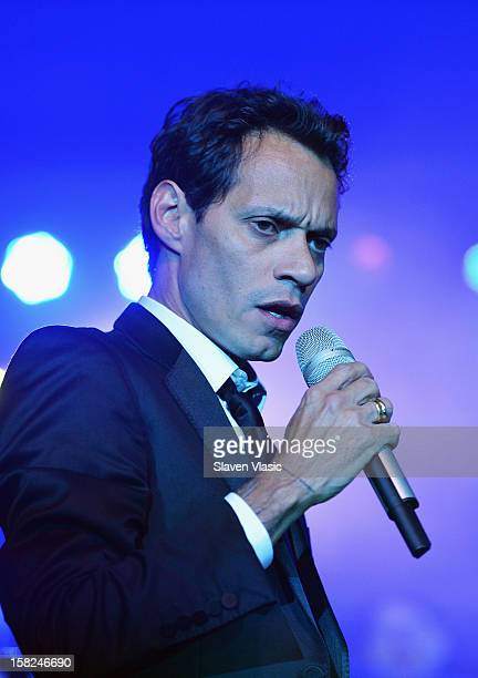 Singer Marc Anthony performs at Happy Hearts Fund Land of Dreams Mexico Gala at Metropolitan Pavilion on December 11 2012 in New York City