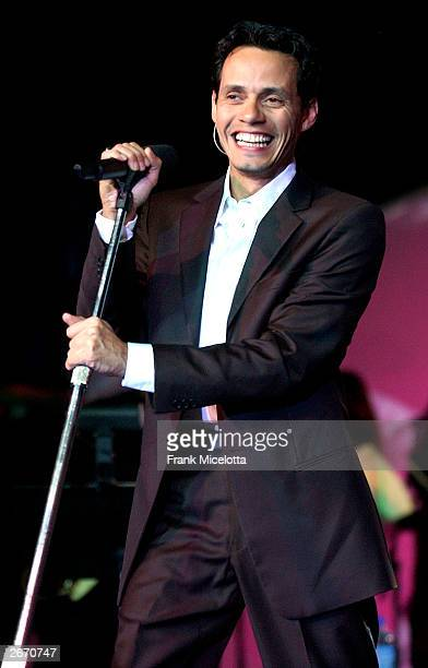 """Singer Marc Anthony performs at """"The G & P Foundation For Cancer Research salutes The World of Entertainment and Media"""" at The Angel Ball located at..."""