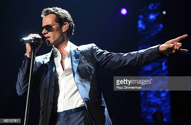 Singer Marc Anthony performs at the Izod Center on August 10, 2012 in East Rutherford, New Jersey.