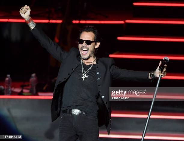 Singer Marc Anthony performs during the kickoff of his Opus tour at The Zappos Theater at Planet Hollywood Resort & Casino on September 15, 2019 in...
