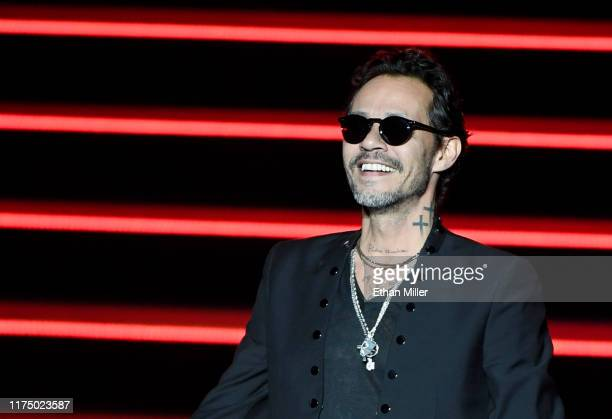 Singer Marc Anthony performs during the kickoff of his Opus tour at The Zappos Theater at Planet Hollywood Resort Casino on September 15 2019 in Las...