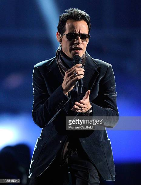 Singer Marc Anthony performs onstage at the 11th Annual Latin GRAMMY Awards held at the Mandalay Bay Events Center on November 11 2010 in Las Vegas...