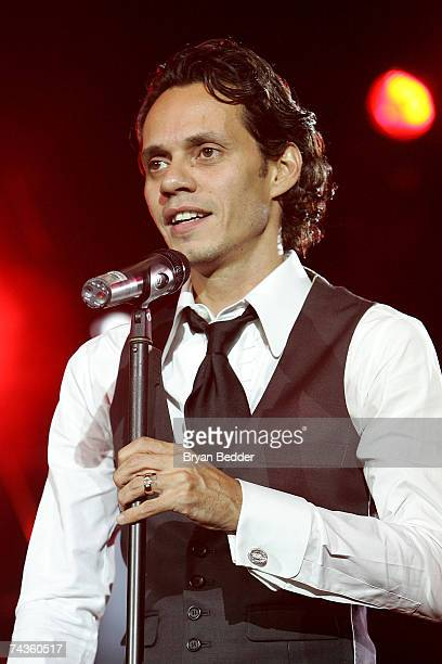 Singer Marc Anthony performs onstage at the 20th Anniversary Children's Health Fund Gala Dinner at the Hilton hotel in on May 30 2007 in New York City