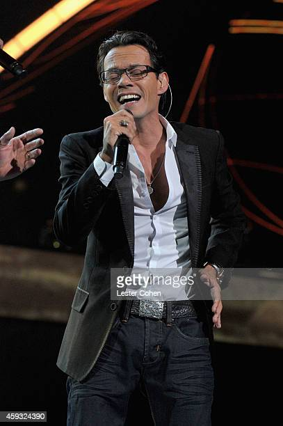 Singer Marc Anthony performs onstage during the 15th annual Latin GRAMMY Awards at the MGM Grand Garden Arena on November 20 2014 in Las Vegas Nevada