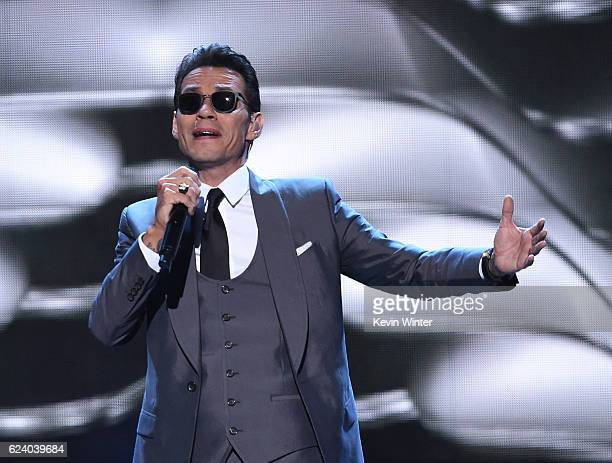 Singer Marc Anthony performs onstage during The 17th Annual Latin Grammy Awards at TMobile Arena on November 17 2016 in Las Vegas Nevada