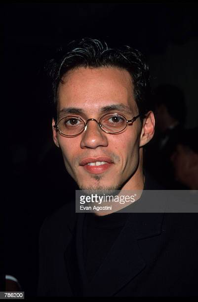 Singer Marc Anthony poses for pictures at the Songwriter's Hall of Fame honors June 10 1998 in New York City Anthony has starred in Paul Simon's...