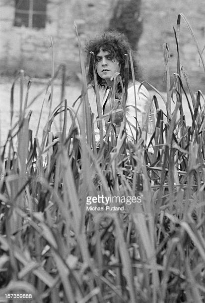 Singer Marc Bolan of British glam rock group TRex at the Chateau d'Herouville recording studio France 23rd October 1972 The group are recording...