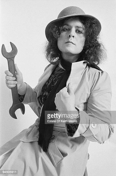 Singer Marc Bolan of English glam rock group TRex London 1977