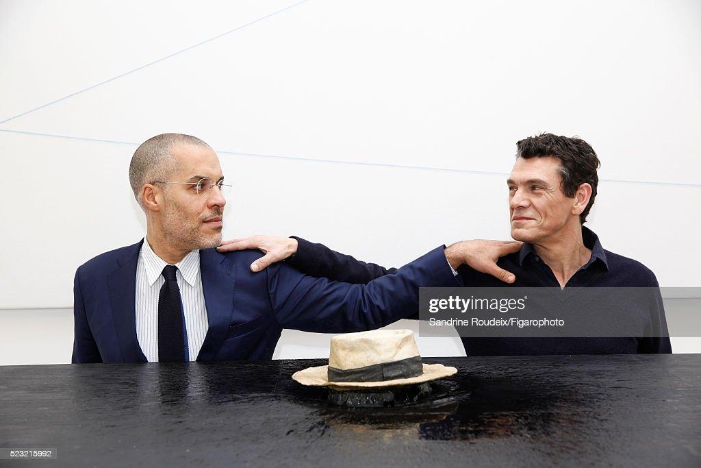 Marc Lavoine and Kamel Mennour, Madame Figaro, April 15, 2016