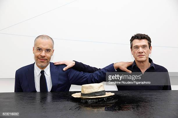 Singer Marc Lavoine and gallery owner Kamel Mennour are photographed for Madame Figaro on February 15 2016 in Paris France CREDIT MUST READ Sandrine...
