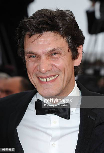 Singer Marc Lavoine attends the 'You Will Meet A Tall Dark Stranger' Premiere held at the Palais des Festivals during the 63rd Annual International...