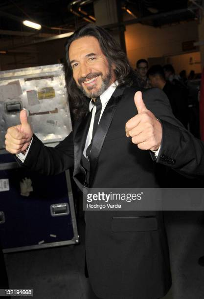 Singer Marco Antonio Solis attends the 12th Annual Latin GRAMMY Awards held at the Mandalay Bay Events Center on November 10, 2011 in Las Vegas,...