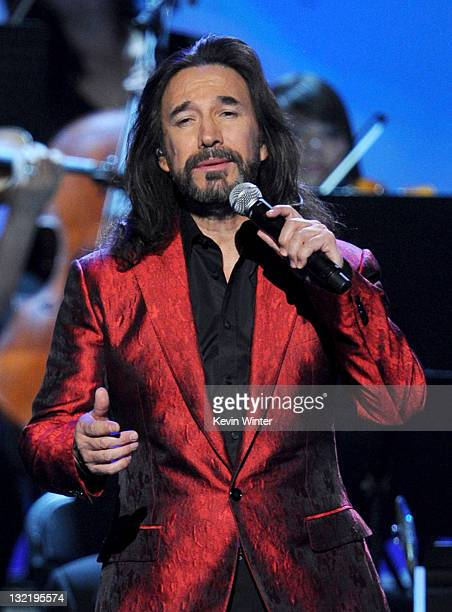 Singer Marco Antonio Solis performs onstage during the 12th annual Latin GRAMMY Awards at the Mandalay Bay Events Center on November 10, 2011 in Las...