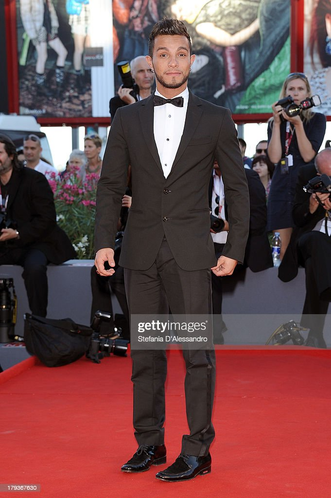 Singer Marco Carta attends the 'The Zero Theorem' Premiere during the 70th Venice International Film Festival at Sala Grande on September 2, 2013 in Venice, Italy.