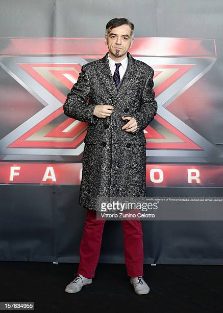 Singer Marco Castoldi known as Morgan attends 'X Factor' Italian TV Show press conference on December 5 2012 in Milan Italy
