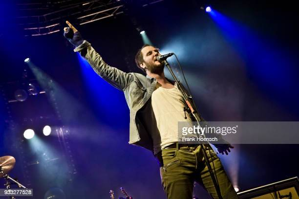 Singer Marco Michael Wanda of the Austrian band Wanda performs live on stage during a concert at the MaxSchmelingHalle on March 17 2018 in Berlin...