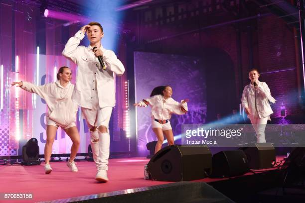 Singer Marcus Gunnarsen and Martinus Gunnarsen perform during the GLOW The Beauty Convention at Station on November 4 2017 in Berlin Germany