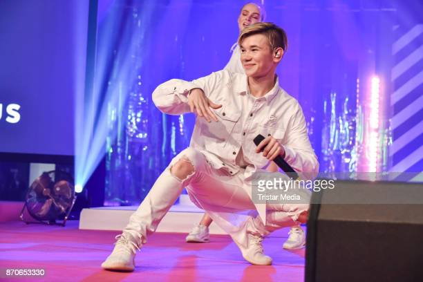 Singer Marcus Gunnarsen performs during the GLOW The Beauty Convention at Station on November 4 2017 in Berlin Germany